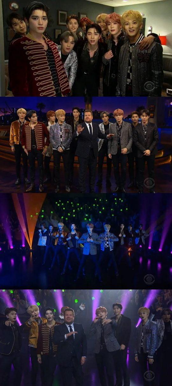 그룹 NCT 127. / 미국 CBS '더 레이트 레이트 쇼 위드 제임스 코든' 방송화면