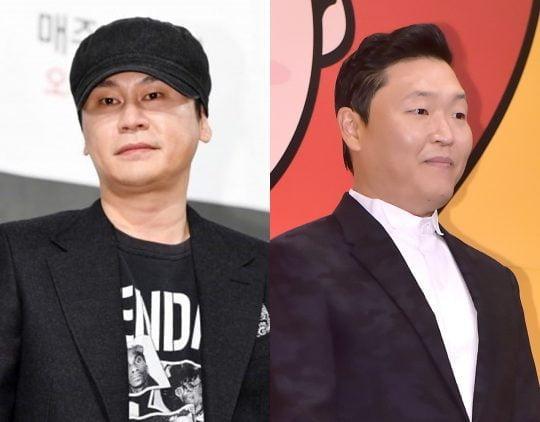 외국인 투자자에게 성접대를 했다는 의혹을 받고 있는 YG 대표 양현석(왼쪽)과 가수 싸이 / 사진=텐아시아DB