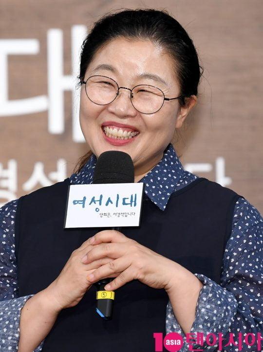 박금선 작가가 4일 오후 서울 상암동 MBC 골든마우스홀에서 열린 MBC 라디오 '여성시대 양희은, 서경석입니다' 기자간담회에 참석했다. /조준원 기자 wizard333@