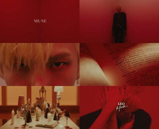 그룹 빅스 멤버 레오의 'MUSE' 이미지 티저 캡처 / 사진제공=젤리피쉬