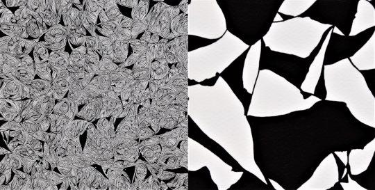 구혜선 '니가 없는 세상, 나에겐 적막' 전시회 작품 적막 10(왼쪽), 적막 12/사진제공=진산갤러리
