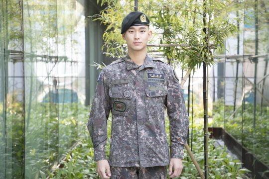 군 복무 중인 배우 김수현. /사진제공=키이스트