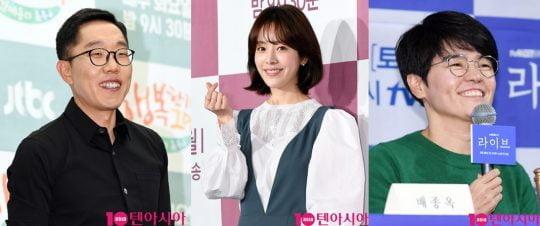 방송인 김제동(왼쪽부터) 배우 한지민, 작가 노희경/사진=텐아시아 DB