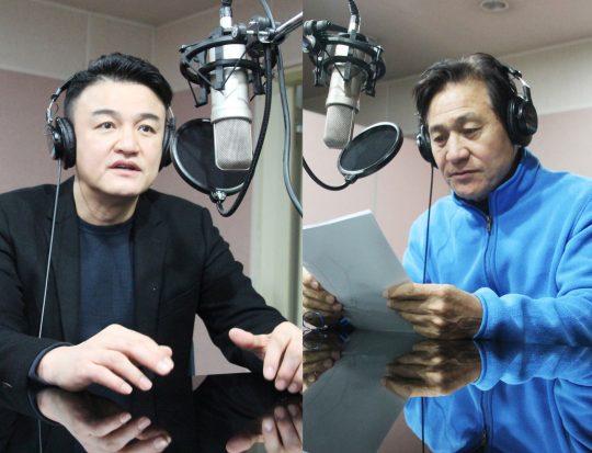 유해발굴감식단 프로그램에 동참한 배우 박중훈(왼쪽부터), 안성기. /사진제공=서경덕 교수