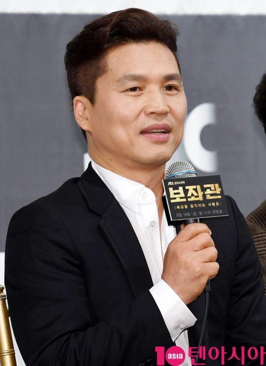 곽정환 연출이 13일 오후 서울 강남구 논현동 임피리얼 팰리스 호텔에서 열린 JTBC 새 금토드라마 '보좌관' 제작발표회에 참석하고 있다.