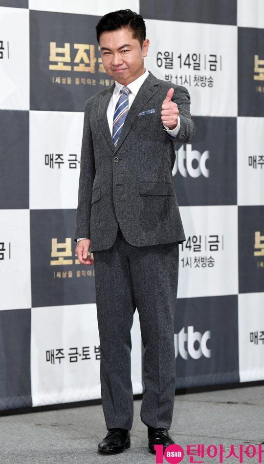 배우 임원희가 13일 오후 서울 강남구 논현동 임피리얼 팰리스 호텔에서 열린 JTBC 새 금토드라마 '보좌관' 제작발표회에 참석하고 있다.