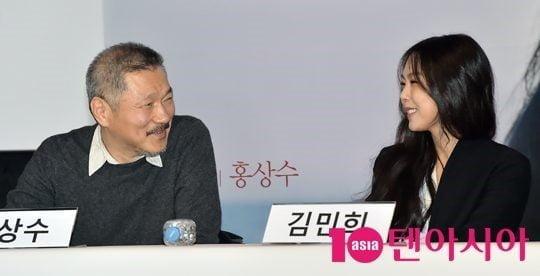 홍상수 감독과 배우 김민희 / 조준원 기자