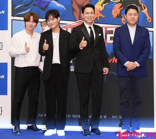 케이윌(왼쪽부터), 강타, 장성규, 김구라. / 이승현 기자 lsh87@