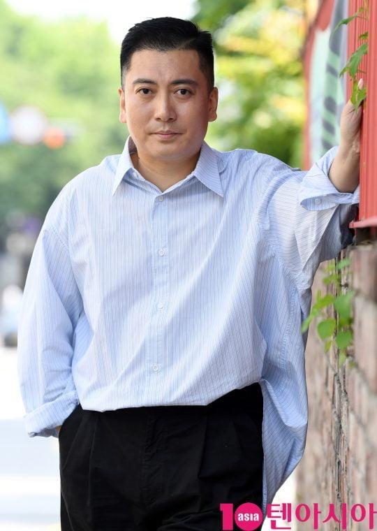 영화 '기생충'에서 지하실에 숨어 사는 남자 근세로 열연한 배우 박명훈./ 사진=조준원 기자 wizard333@