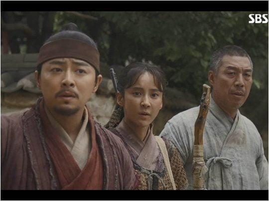 지난 15일 방영된 SBS 드라마 '녹두꽃' 방송화면.