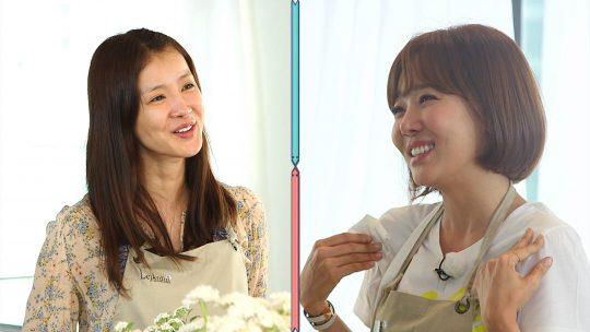 '취존생활'의 이시영(왼쪽)과 소유진./사진제공=JTBC
