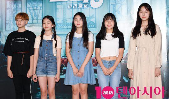 걸그룹 여동생이 25일 오후 서울 한강로3가 CGV 용산아이파크몰점에서 열린 영화 '존 윅 3: 파라벨룸' VIP시사회에 참석하고 있다.