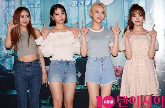 걸그룹 러스티가 25일 오후 서울 한강로3가 CGV 용산아이파크몰점에서 열린 영화 '존 윅 3: 파라벨룸' VIP시사회에 참석하고 있다.