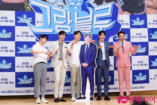 안형섭(왼쪽부터), 오스틴 강, 최성원, 박태환, 한석준
