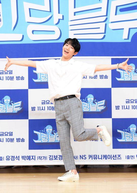 28일 오후 서울 목동 SBS 사옥에서 열린 SBS 예능 '그랑블루' 제작발표회에 가수 안형섭이 참석했다. /사진제공=SBS
