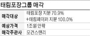 [마켓인사이트] 태림포장 인수전, 한솔 등 7곳 참여