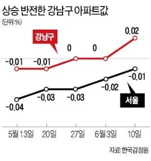 강남구 아파트값 8개월 만에 반등…은마·대치 등 재건축 '전고점 회복'