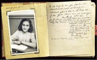 《안네의 일기》(1942~1944년)의 일부분.