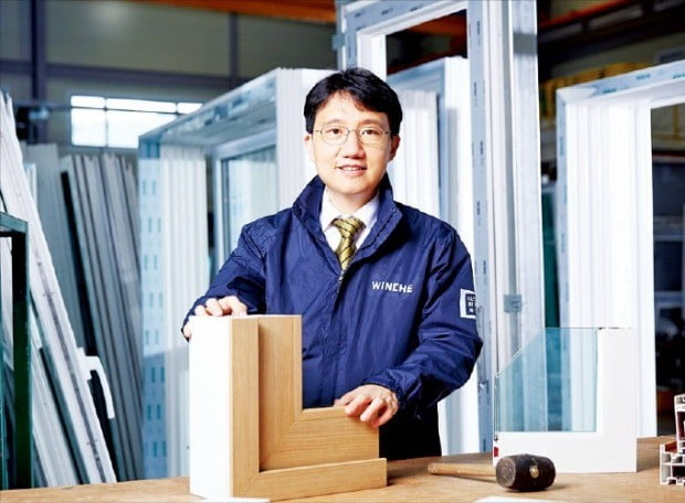 김형진 윈체 대표가 사업 전략에 대해 이야기하고 있다.  /김정은 기자