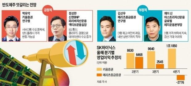 """반도체株 극과 극 전망…""""3분기 반등"""" vs """"내년도 약세"""""""