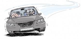 '아車車' 도로 위 조마조마한 고령 운전