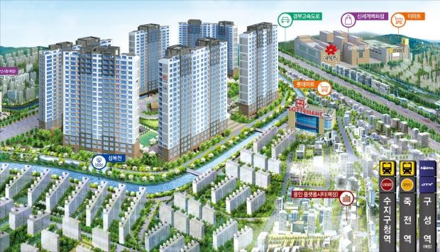 힐스테이트 수지구청역, 다채로운 커뮤니티 시설…3베이 특화 '아파텔'