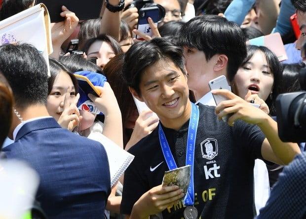 축구 U-20 준우승 환영행사