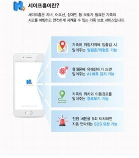 빅데이터 기반 가족 안전 및 보호 서비스 앱 '세이프홈' 출시