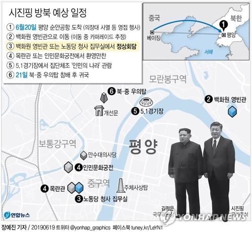 시진핑, 전용기로 평양 향발…中국가주석 14년만에 방북