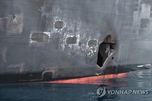 """美해군 """"피격 유조선 부착된 폭탄, 이란 기뢰와 놀랄만큼 유사"""""""