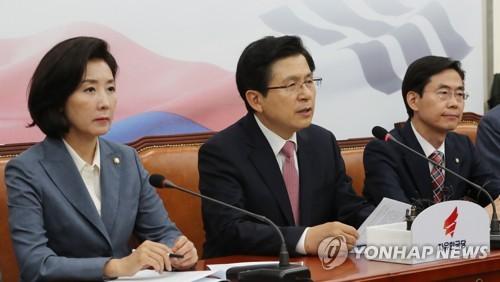 """황교안, '홍문종 탈당'에 """"국민은 분열 원하지 않아"""""""
