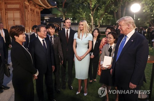 """文대통령, 골프광 트럼프에 박세리 소개…""""박성현도 박세리키즈"""""""