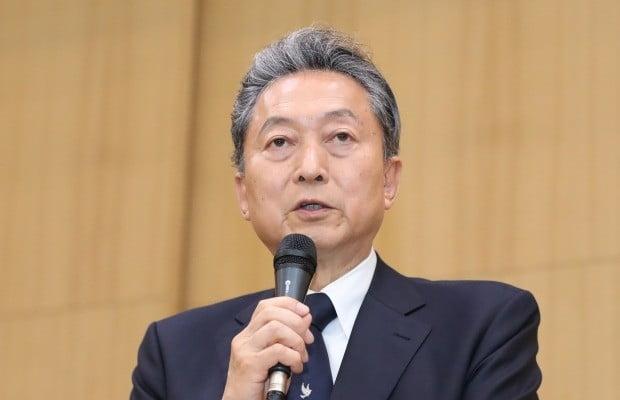 하토야마 유키오 전 일본 총리가 연세대학교 용재홀에서 '한반도의 신시대와 동아시아의 공생'을 주제로 초청 강연을 하고 있다. 사진=연합뉴스