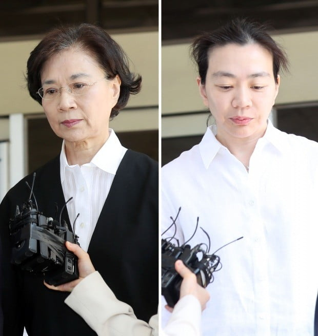'명품 밀수' 이명희 모녀 징역형 집행유예..구속은 면해 (사진=연합뉴스)