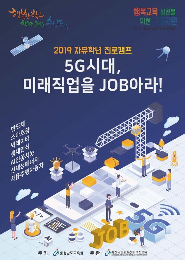 충남교육청연구정보원, 지역별 자유학년 진로캠프 운영