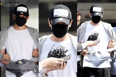 강지환 '구속영장심사' 패션, 머리·수염 가려