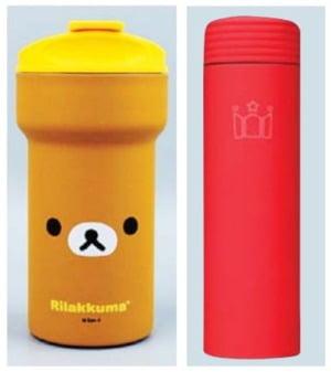 한국소비자원의 조사 결과 페인트에 다량의 납이 함유된 것으로 드러난 엠제이씨(왼쪽)와 할리스커피의 텀블러 제품들. /출처: 각 사 홈페이지