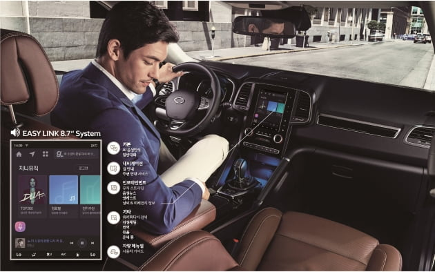 KT가 르노삼성자동차와 함께 기가지니를 기반으로 하는 차량용 인포테인먼트(IVI) 시스템 '이지링크(EASY LINK)'를 출시한다고 22일 밝혔다.