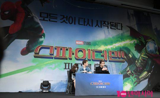 영화 '스파이더맨 : 파 프롬 홈' 내한 기자간담회