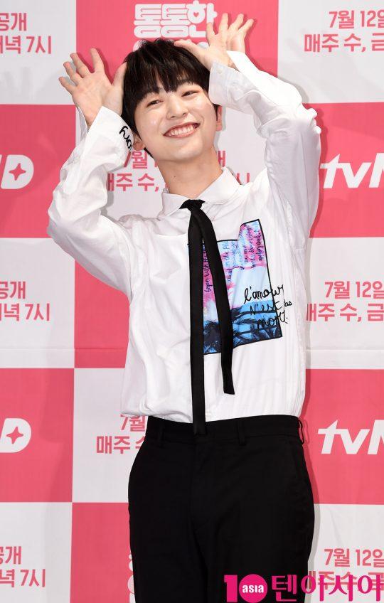 그룹 온앤오프의 라운이 4일 오후 서울 여의도 켄싱턴호텔에서 열린 tvN D의 새 웹드라마 '통통한 연애2' 제작발표회에 참석했다./ 조준원 기자 wizard333@