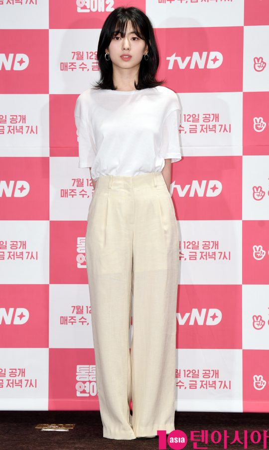 배우 신세휘가 4일 오후 서울 여의도 켄싱턴호텔에서 열린 tvN D의 새 웹드라마 '통통한 연애2' 제작발표회에 참석하고 있다.