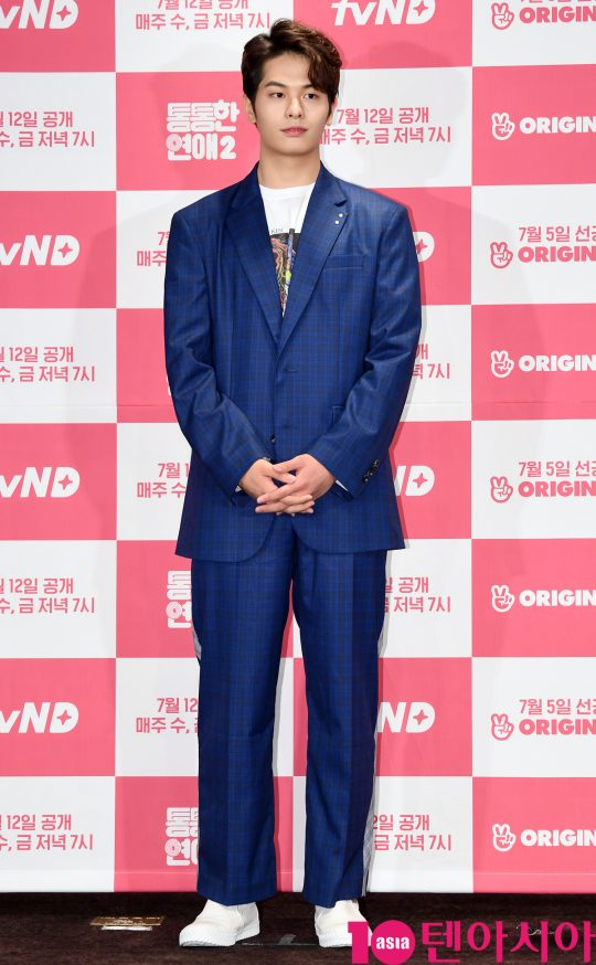 배우 정민규가 4일 오후 서울 여의도 켄싱턴호텔에서 열린 tvN D의 새 웹드라마 '통통한 연애2' 제작발표회에 참석하고 있다.