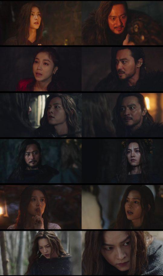 '아스달연대기' 장동건, 송중기, 김지원 / 사진=tvN 방송화면