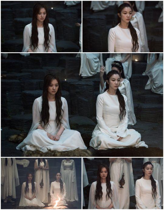 '아스달 연대기' 김지원, 김옥빈 / 사진 제공=tvN