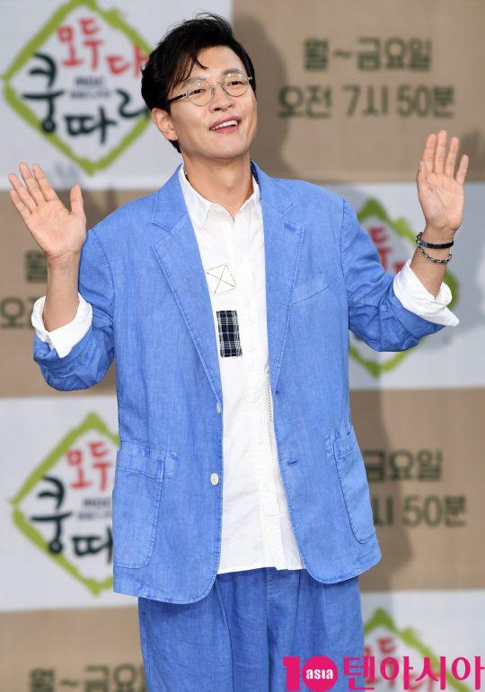 배우 김호진이 11일 오후 서울 상암동 MBC 골든마우스홀에서 열린 MBC 새 아침드라마 '모두 다 쿵따리' 제작발표회에 참석하고 있다.