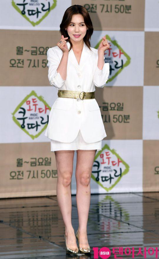 배우 박시은이 11일 오후 서울 상암동 MBC 골든마우스홀에서 열린 MBC 새 아침드라마 '모두 다 쿵따리' 제작발표회에 참석하고 있다.