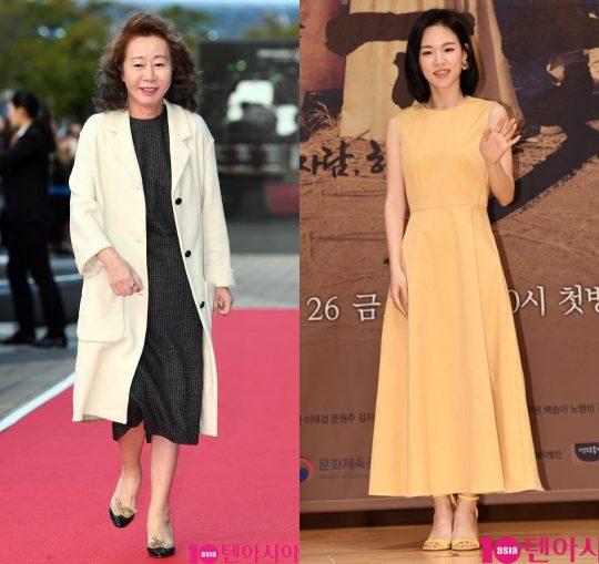 배우 윤여정(왼쪽)과 한예리./사진=텐아시아DB
