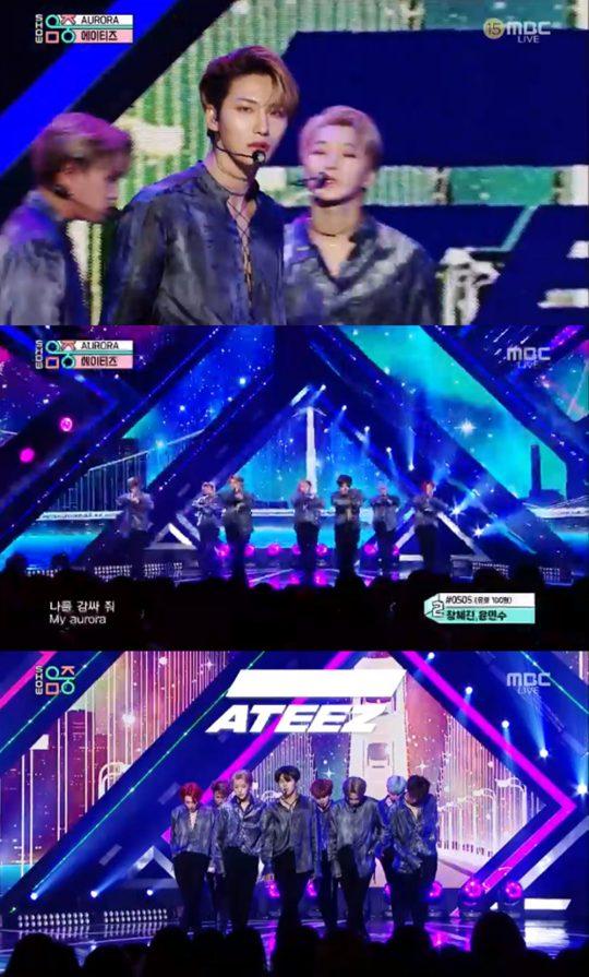 그룹 에이티즈. / 제공=MBC '쇼! 음악중심' 방송화면