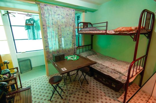 메이호 하우스의 옛 모습을 재현한 방