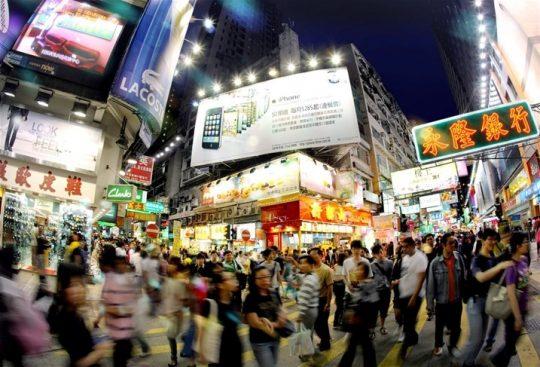 몽콕의 야경 /홍콩관광청 제공